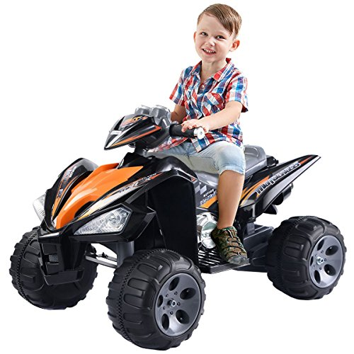 Safe riding kids battery powered four wheeler ATV
