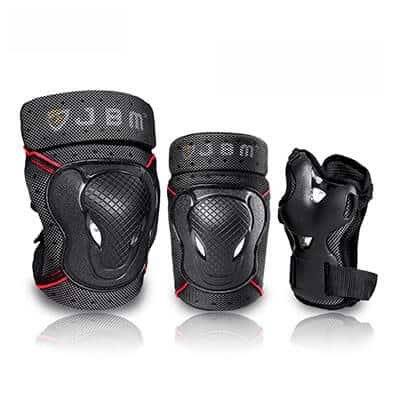 JBM Knee Pads and Elbow Pads with Wrist Guards