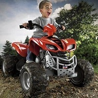 Kids ATV Power Wheels Kawasaki KFX with Monster Traction