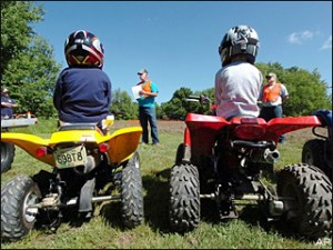 Kids ATV safety training