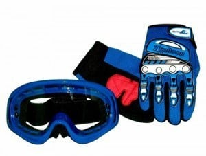 ATV goggles and gloves for children