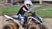 Boy Riding an ATV