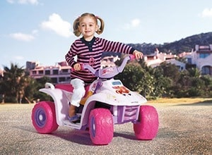 Electric 4-wheeler for girls