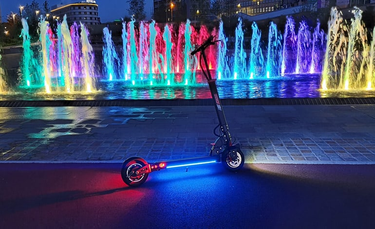 electric scooter with led lights