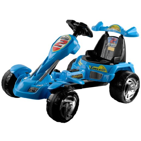 Lil` Rider Battery-Powered Blue Ice Go-Kart, Blue