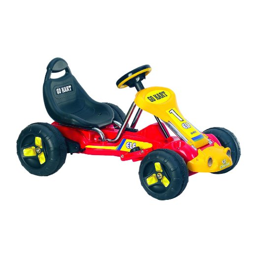Lil` Rider Battery-Powered Red Racer Go-Kart, Red