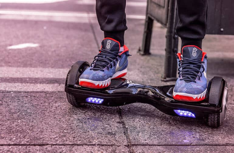 hoverboard close up image