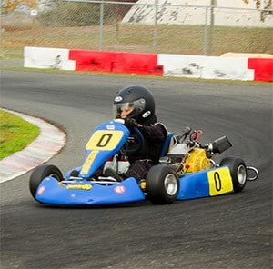 Kid Riding Go-Kart