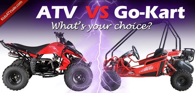 Kids ATV vs Go-Kart for kids