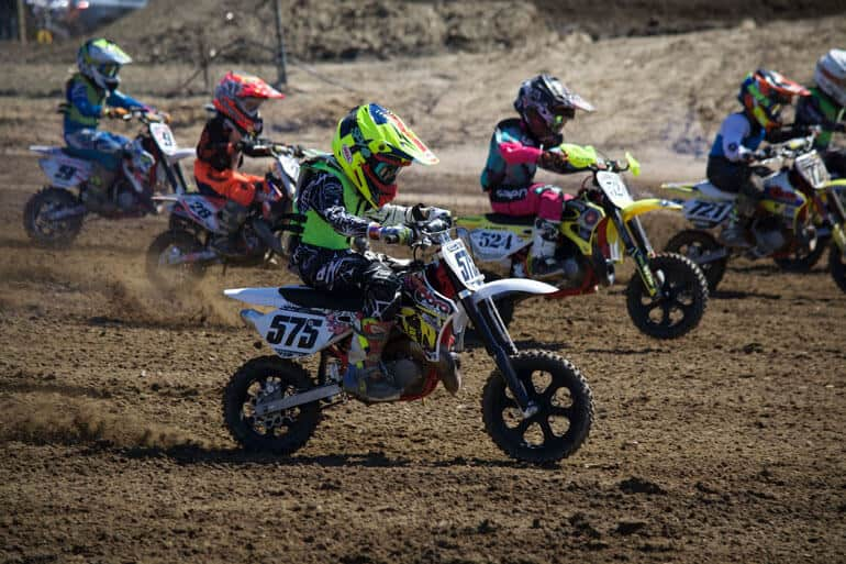 motocross competition among young riders